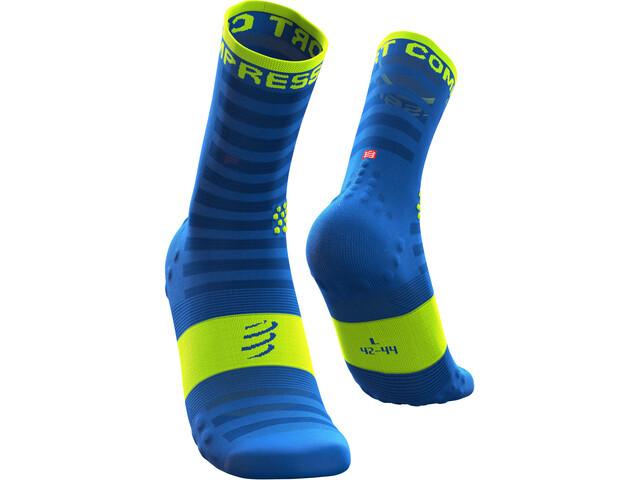 Compressport Pro Racing V3 Ultralight Run High Socks fluo blue